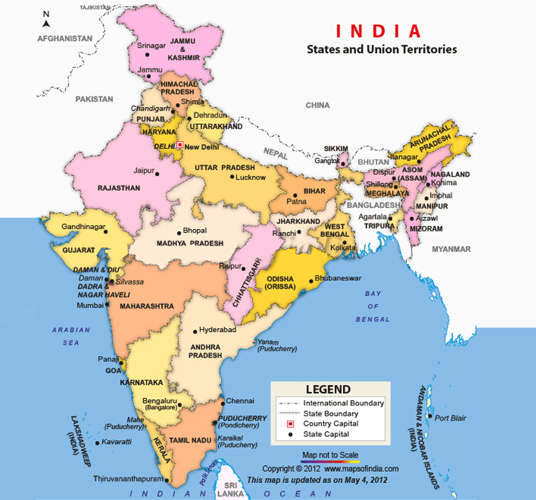 India States Map 2016.Introduction India Individueel